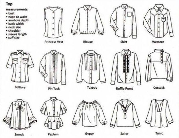 types of shirt