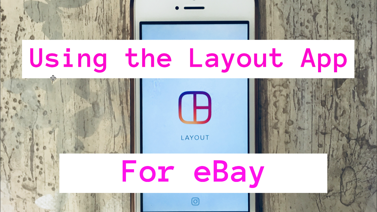 Create a lead image for eBay with the 'Layout' app, using more than